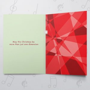 Christmas Dimensions Red – Musical Christmas Card