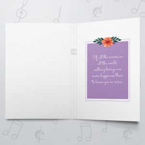 Luckiest daughter – Musical Mother's Day Card