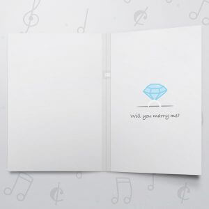 Wedding Ring Box – Musical Proposal Card