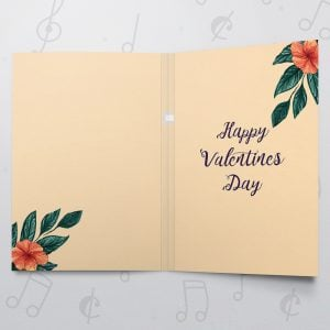 Valentines Floral – Musical Valentines Card