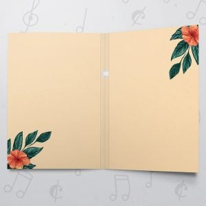 Love Floral – Musical Love Card