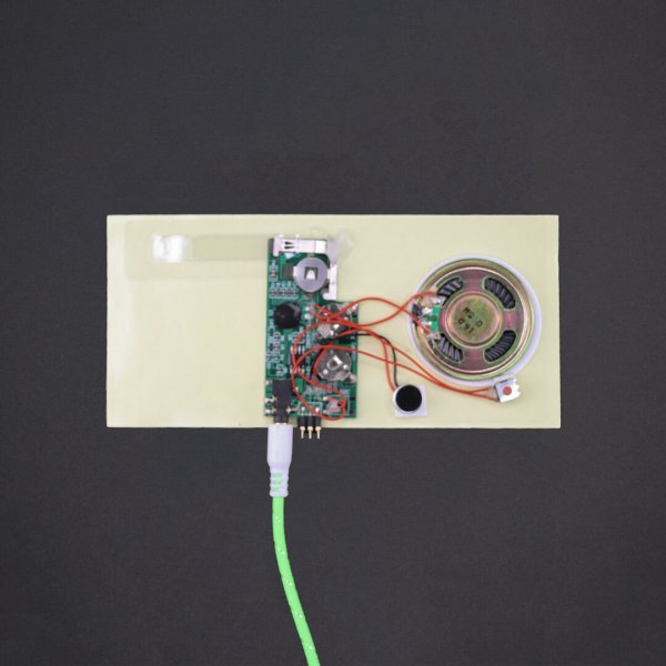 Line-in Port - Greeting Card Sound Module - Rec 120 Sec
