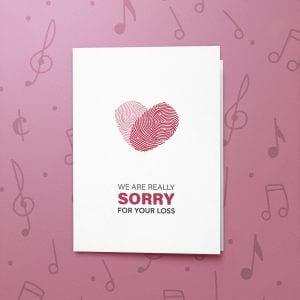 Partner Loss – Musical Sympathy Card