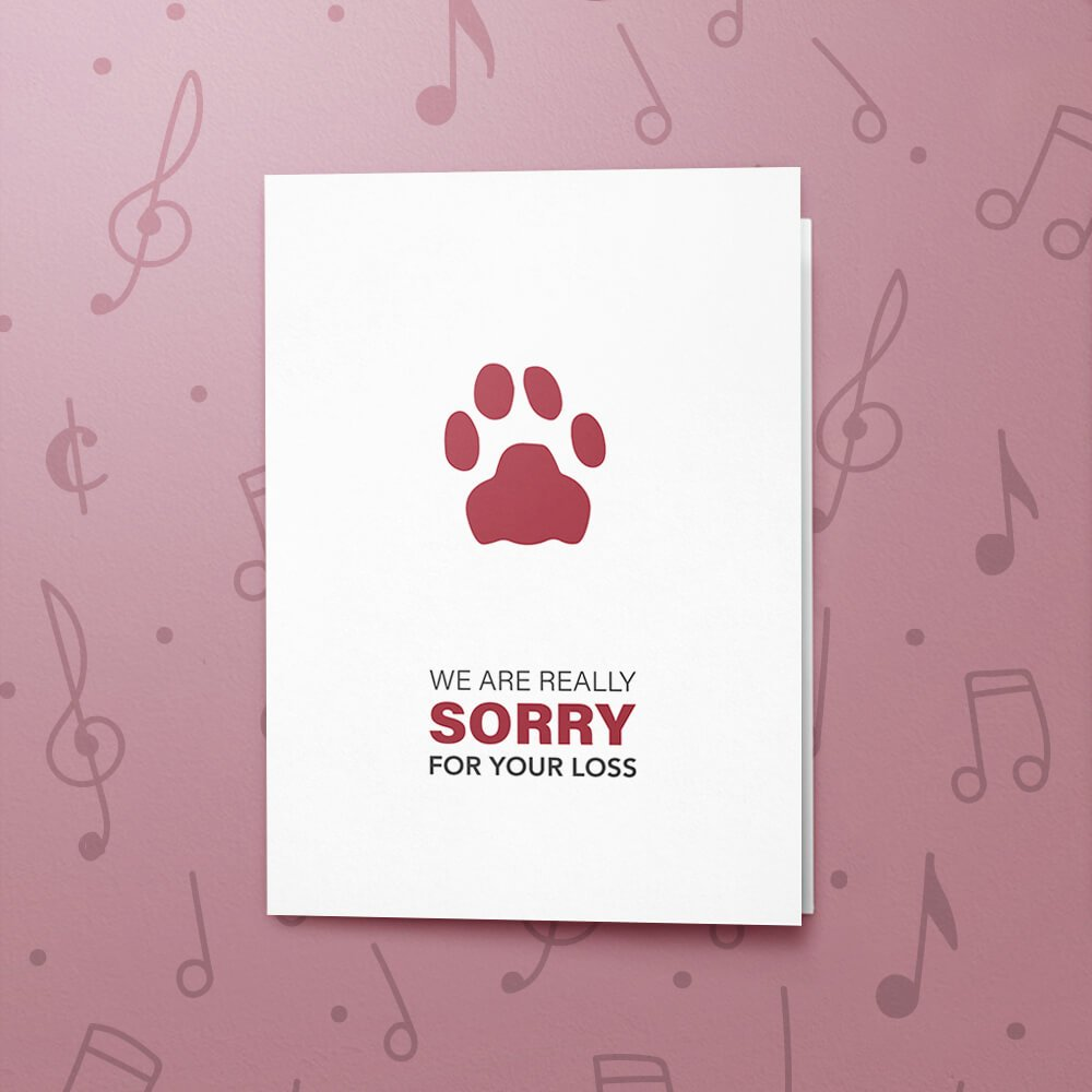Pet Loss Musical Sympathy Card