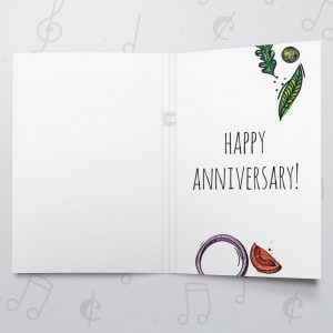 Pizza my Heart (Anniversary) – Musical Wedding Card