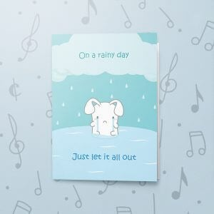 Rainy Day – Musical Sympathy Card