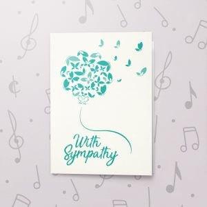 With Sympathy – Musical Sympathy Card