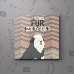 Thanks fur everything – Thank You Video Greeting Card