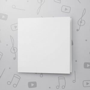 Blank Musical Greeting Card