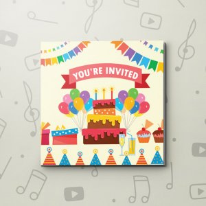 Your Invited (Kid) – Birthday Video Greeting Card
