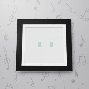 Blank Musical Photo Frame Card - 6 x 6