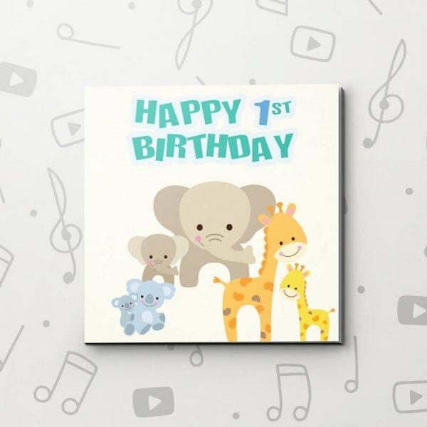 Happy 1st Birthday – Birthday Video Greeting Card