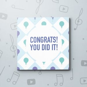 You Did It Balloons – Congratulations Video Greeting Card