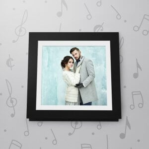 Blank Musical Photo Frame Card - 6 x 6 - Black