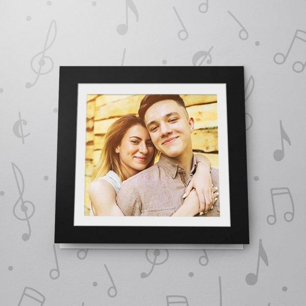 Blank Musical Photo Frame Card - 6 x 6