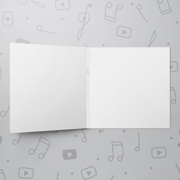 Blank Musical Greeting Card - 6 x 6
