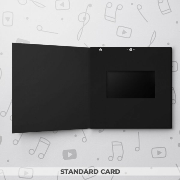 Blank Video Frame Card - Black