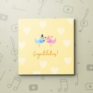 Congratulations Lovebirds – Wedding Video Greeting Card