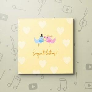 Congratulations Lovebirds – Wedding Video Greeting Card