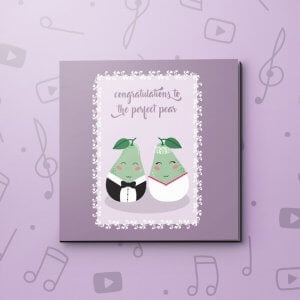 Congratulations Perfect Pear – Wedding Video Greeting Card