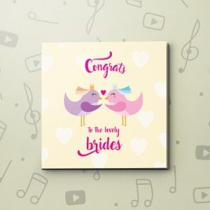 Congrats Brides – LGBT Wedding Video Greeting Card