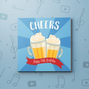 Cheers, 50th – Birthday Video Greeting Card