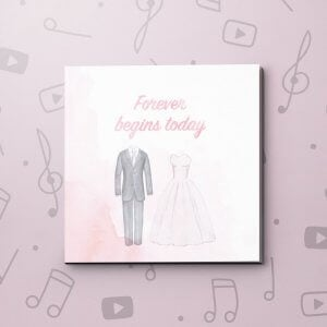 Forever Begins Today Wedding Video Greeting Card