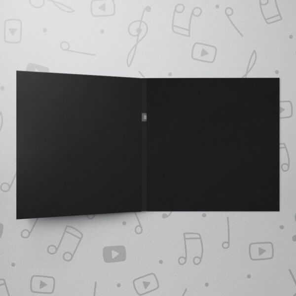 Blank Musical Greeting Card - Black - 6 x 6
