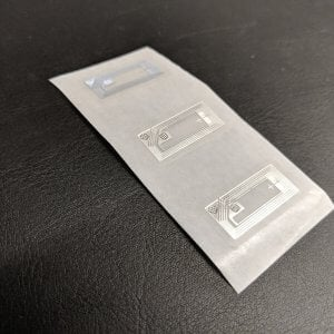 NTAG213 – NFC Transparent Mini label (Wet Inlay) 144 bytes