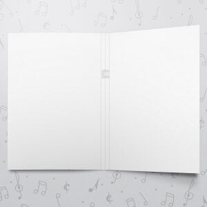 Blank Musical Greeting Card - 8 x 11 - Large Card