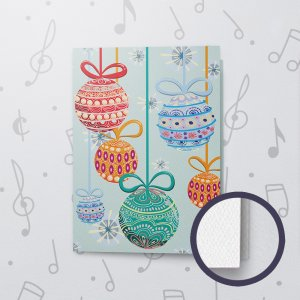Christmas Ornaments – Musical Christmas Card - Felt Paper
