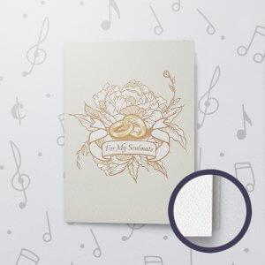 For My Soulmate (Blank) – Musical Wedding Card - Felt Paper