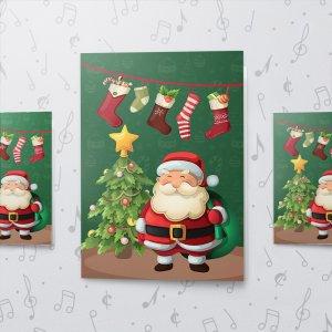 Merry Santa – Musical Christmas Card - Large