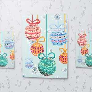 Christmas Ornaments – Musical Christmas Card - Large