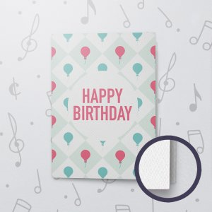 Happy Birthday Balloon – Musical Birthday Card - Felt Paper