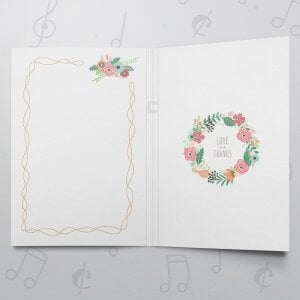 Happy Mother's Day (Wreath) – Musical Mother's Day Card - Felt Paper