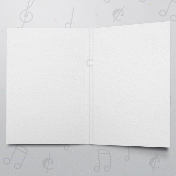 Blank Musical Greeting Card - 5 x 7 - Felt Paper