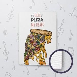 Pizza My Heart (Love) – Musical Love Card - Felt Paper