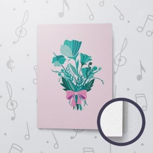 Thank You Pastel – Musical Thank You Card - Felt Paper