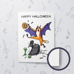 Halloween Surprise – Musical Halloween Card - Felt