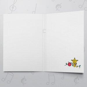 Christmas Star – Musical Christmas Card - Felt