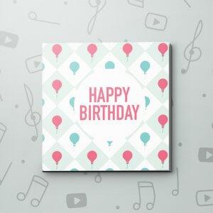 Birthday Balloon Bouquet – Birthday Video Greeting Card