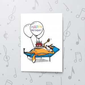 Relaxn' Birthday – Musical Birthday Card