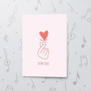 Finger Heart – Musical Love Card