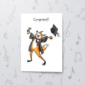 Congrats! You Graduated – Musical Graduation Card