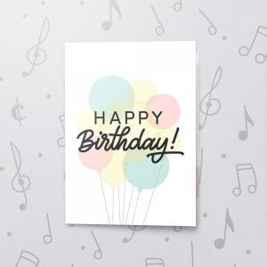 Birthday Balloon Bouquet – Musical Birthday Card