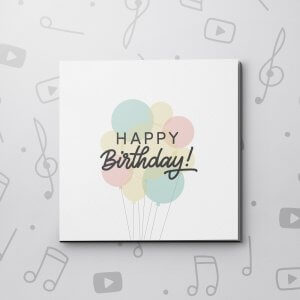 Birthday Balloon Bouquet – Birthday Video Greeting Card