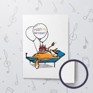 Relaxn' Birthday – Musical Birthday Card - Felt