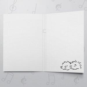 You can do it! – Musical Good Luck Card - Felt