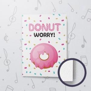 Donut Worry – Musical Good Luck Card - Felt